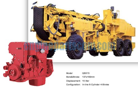 Road milling machine engine spare part