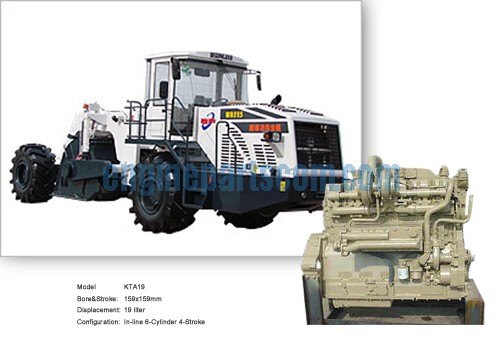 NT855 Road reclaimer interchangeable parts