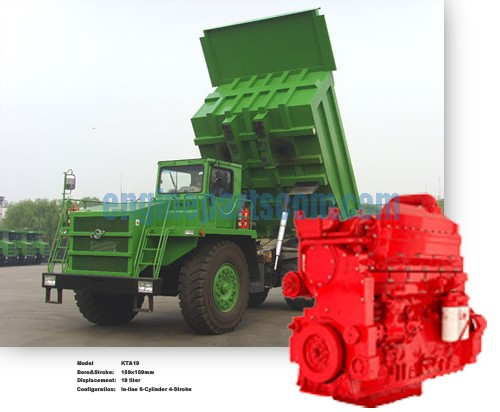 KTA19 Mining dump truck machinery parts,Myanmar diesel,