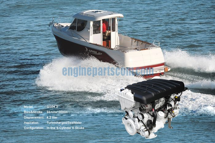 yachts engine spare part,cummins EIN YAHAV,