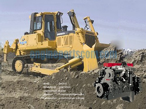 bulldozer engine spare part